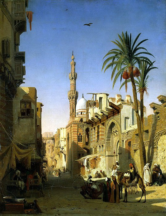 Marilia, Prosper Georges Antoine. Street Ezbekiya in Cairo. Hermitage ~ part 08