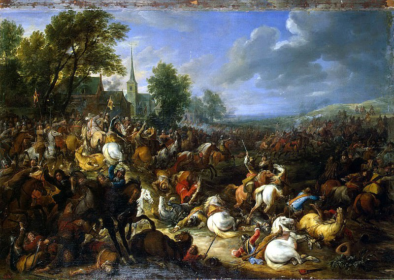 Meulen, Adam Franz van der. Cavalry fight. Hermitage ~ part 08