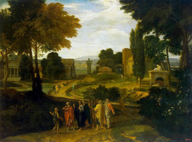 Millet, Jean-Francois, known as Francis. Landscape with Christ and his disciples. Hermitage ~ part 08