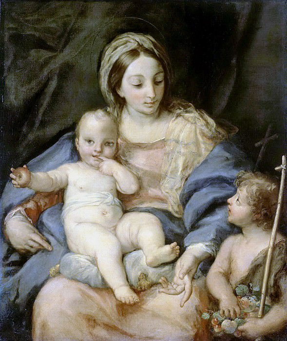 Maratti, Carlo. Madonna and Child with John the Baptist. Hermitage ~ part 08