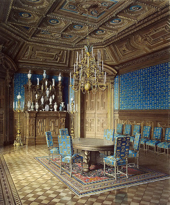 Meyblyum, Jules. Palace of Count PS Stroganov. Canteen. Hermitage ~ part 08