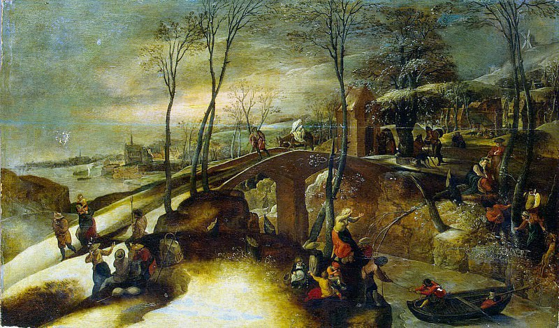Mostaert, Gillis. Landscape with the Flight into Egypt. Hermitage ~ part 08