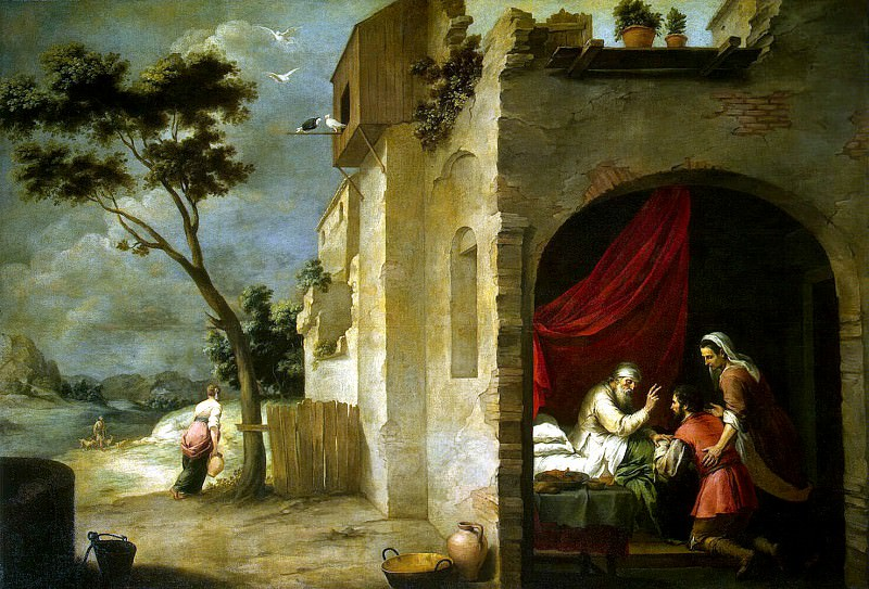 By Murillo, Bartolome Esteban. Blessing Jacob. Hermitage ~ part 08