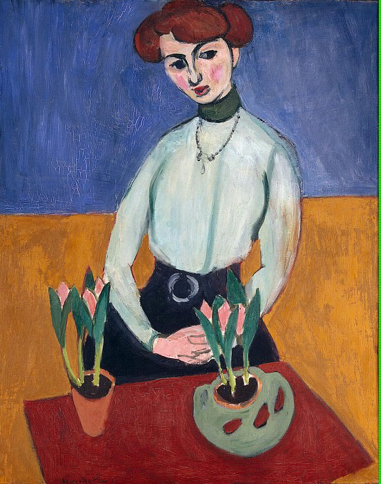 Matisse, Henry. Girl with tulips. Hermitage ~ part 08