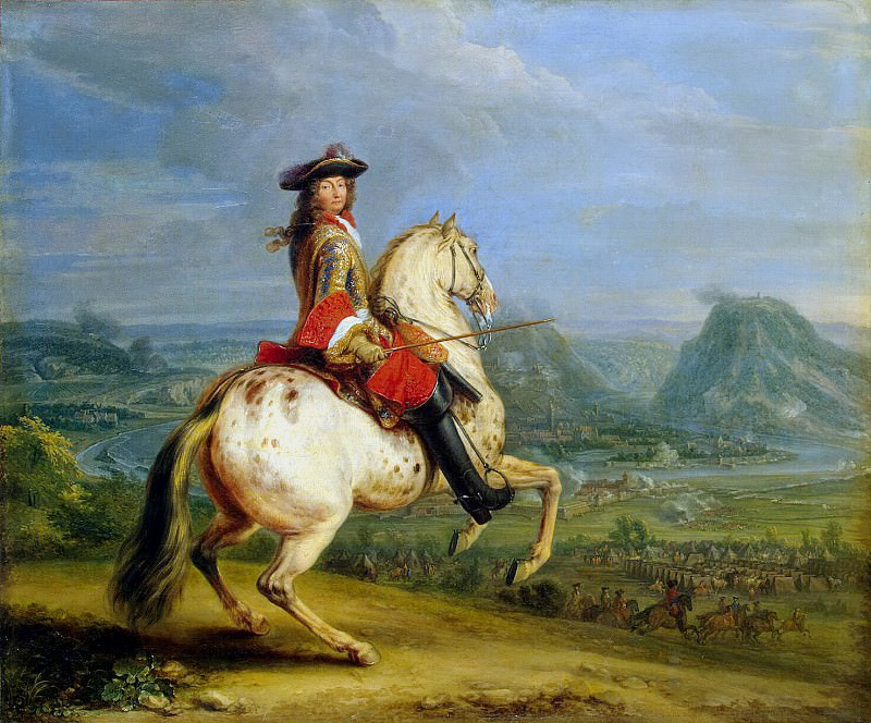 Meulen, Adam Franz van der. Louis XIV during the capture of Besançon. Hermitage ~ part 08