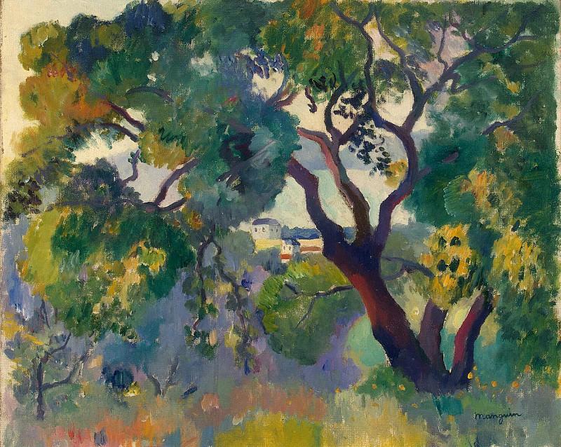Mangione, Henri Charles. Landscape at Saint-Tropez. Hermitage ~ part 08