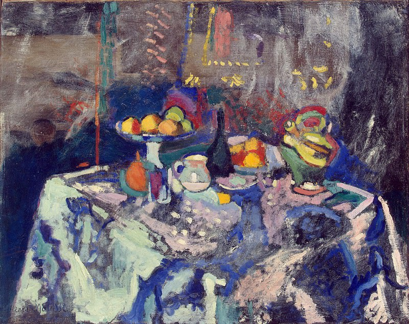 Matisse, Henry. Vase, Bottle and Fruit. Hermitage ~ part 08