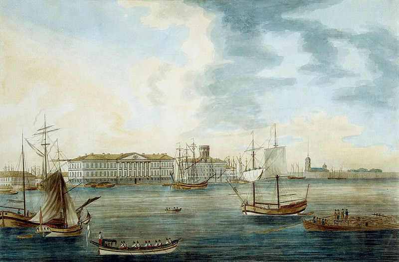Malton, Thomas Senior. View from the Neva embankment on Vasilevsky Island in the Academy of Sciences. Hermitage ~ part 08