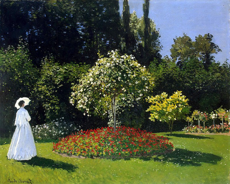 Monet, Claude. Lady in the Garden Sainte-Adresse. Hermitage ~ part 08