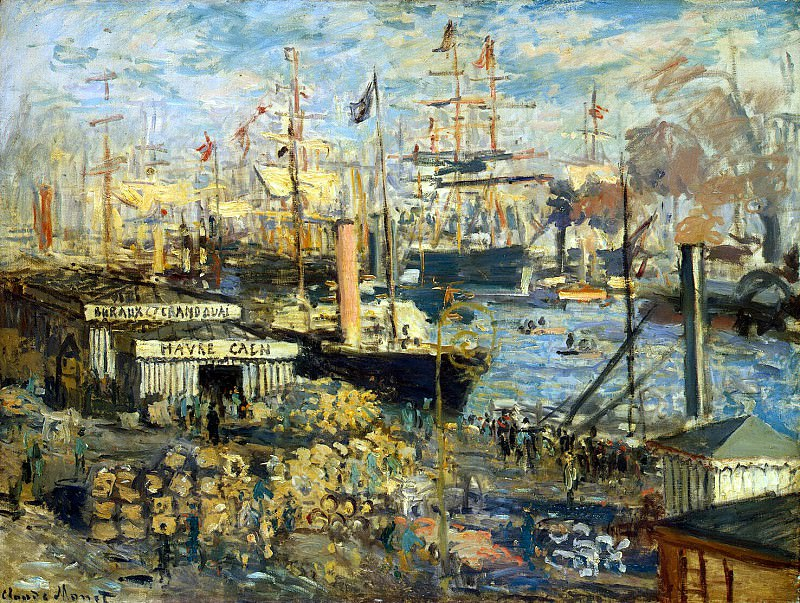 Monet, Claude. Most Quay at Le Havre. Hermitage ~ part 08