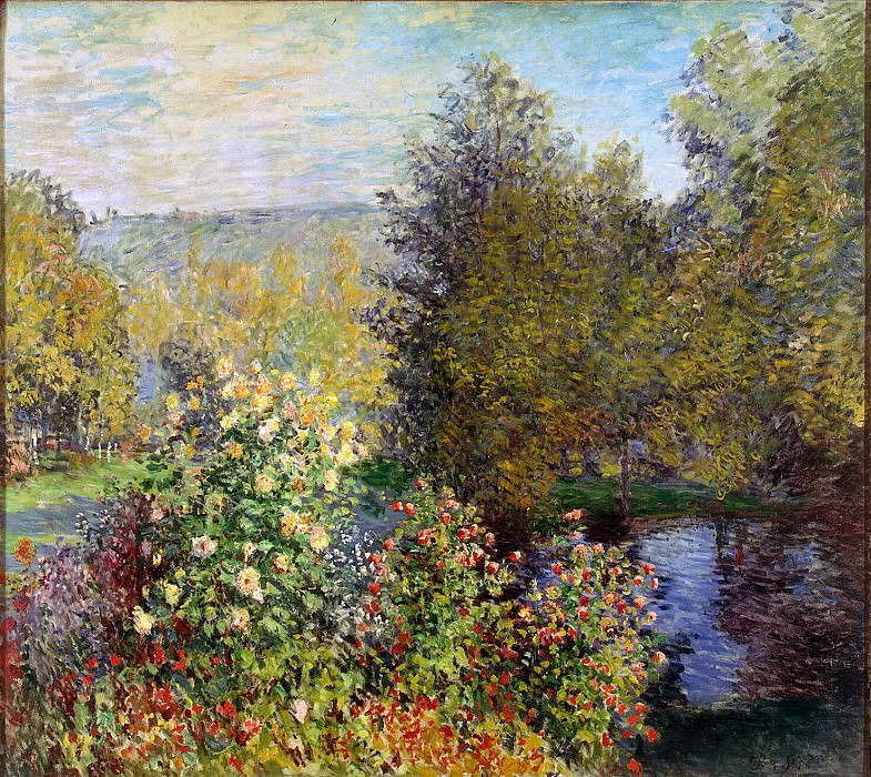 Monet, Claude. Area garden in Montgeron. Hermitage ~ part 08