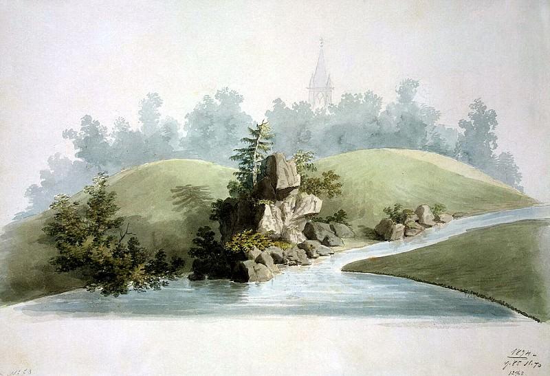 Menelas, Adam. Landscape in the Alexander Park in Tsarskoe Selo. Hermitage ~ part 08