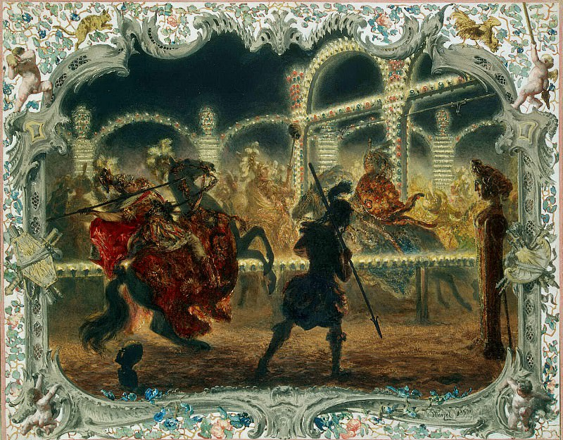 Menzel, Adolf von. Night Carousel, led by Frederick the Great in 1750. Hermitage ~ part 08