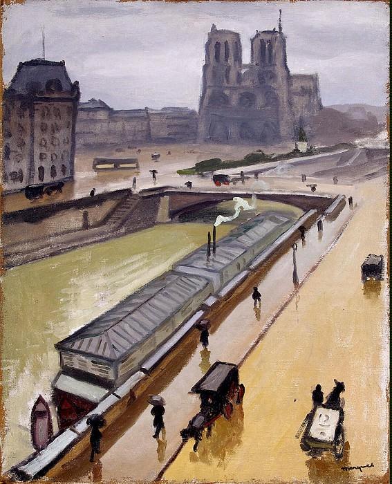 Marquet, Albert. Rainy day in Paris. Notre Dame. Hermitage ~ part 08