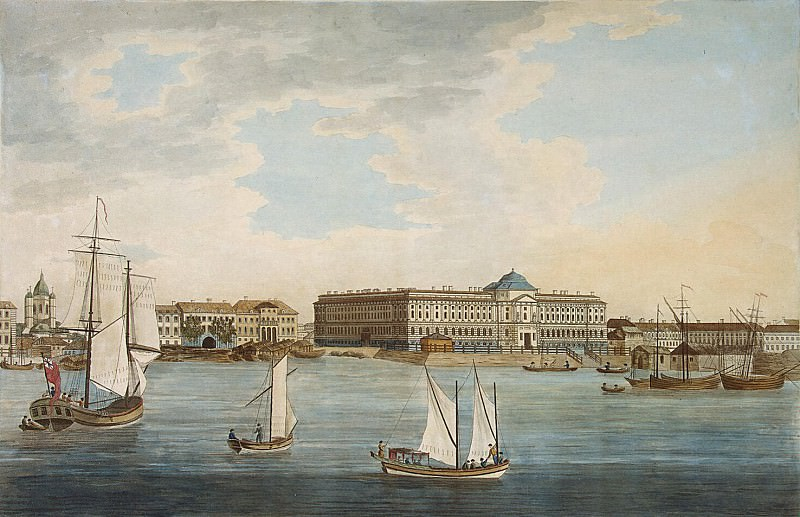 Malton, Thomas Senior. View from the Neva embankment on Vasilevsky Island in the Academy of Fine Arts. Hermitage ~ part 08