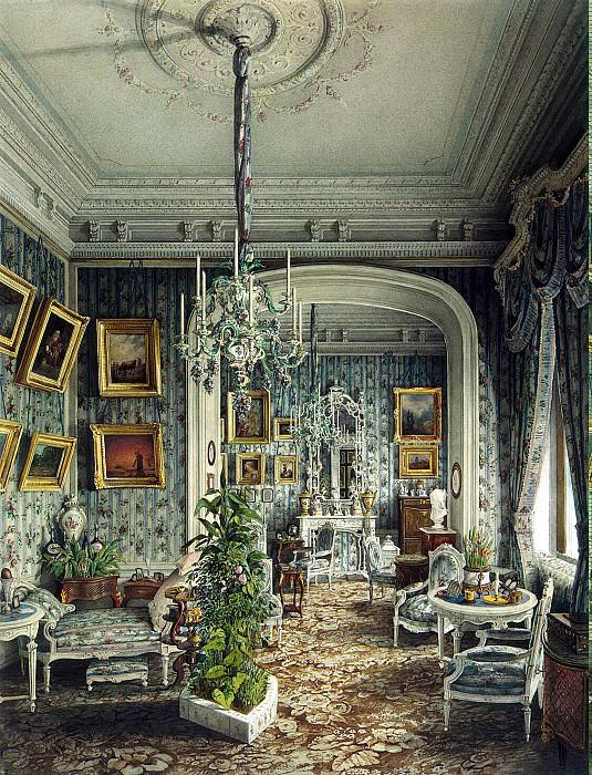 Meyblyum, Jules. Palace of Count PS Stroganov. Boudoir. Hermitage ~ part 08