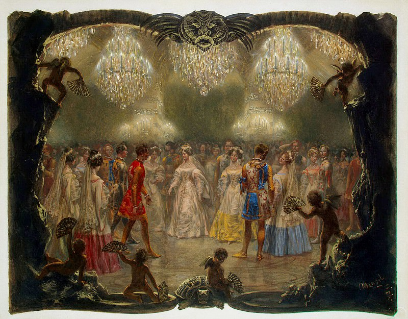 Menzel, Adolf von. Ball at the New Palace. 1829. Hermitage ~ part 08
