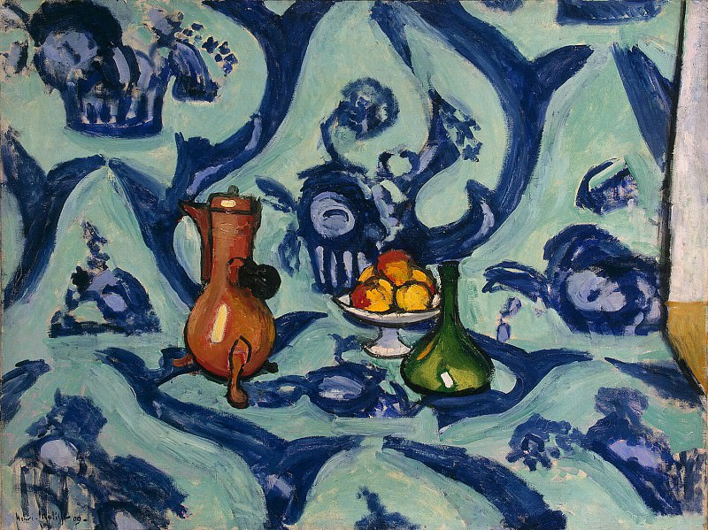 Matisse, Henry. Still Life with a blue tablecloth. Hermitage ~ part 08