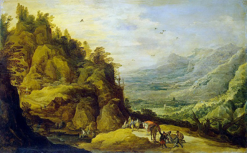 Momper, de Ios. Mountain landscape with falling ass. Hermitage ~ part 08