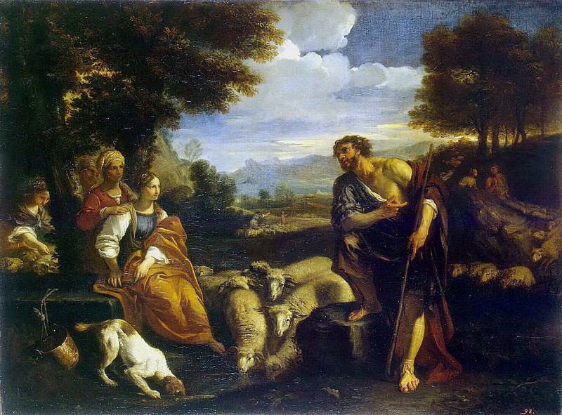 Mola, Pier Francesco. The meeting of Jacob with Rachel. Hermitage ~ part 08