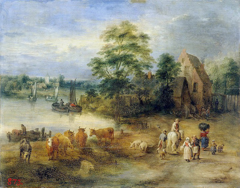Michaud, Theobald. Landscape. Hermitage ~ part 08
