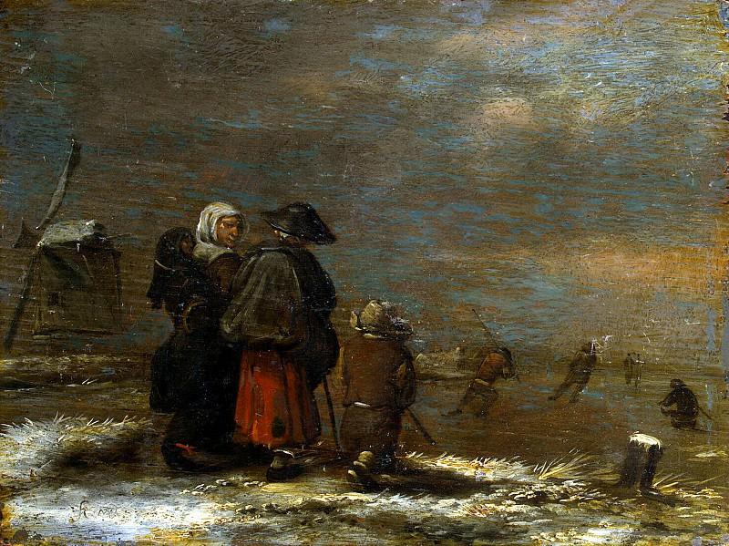 Molenaar, Jan Minzah. Winter landscape with a windmill. Hermitage ~ part 08