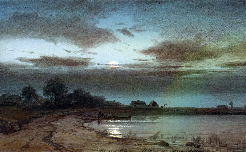 Melba, Anton. River on a moonlit night. Hermitage ~ part 08