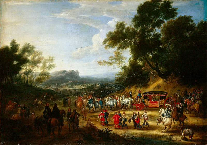 Meulen, Adam Franz van der. Journey of Louis XIV. Hermitage ~ part 08
