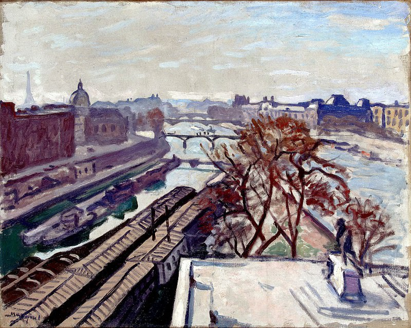 Marquet, Albert. View of the Seine and the monument to Henry IV. Hermitage ~ part 08