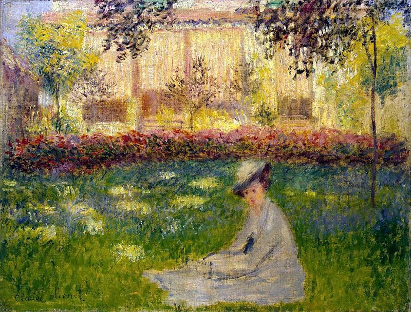 Monet, Claude. Woman sitting in the garden. Hermitage ~ part 08