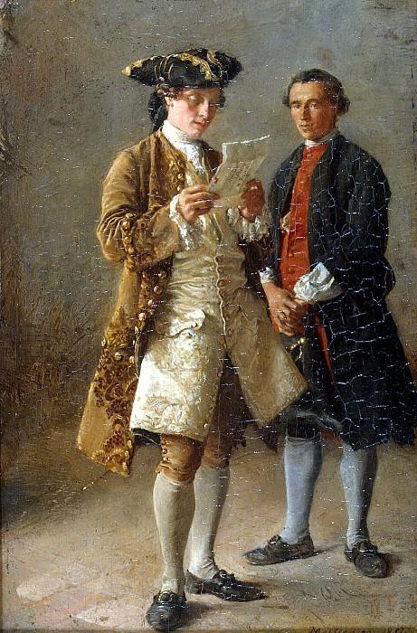Meyssone, Jean-Louis Ernest. Read letters. Hermitage ~ part 08