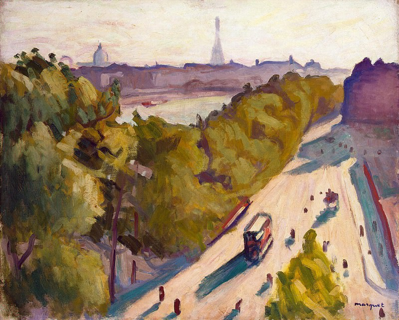 Marquet, Albert. Embankment of the Louvre, the summer. Hermitage ~ part 08