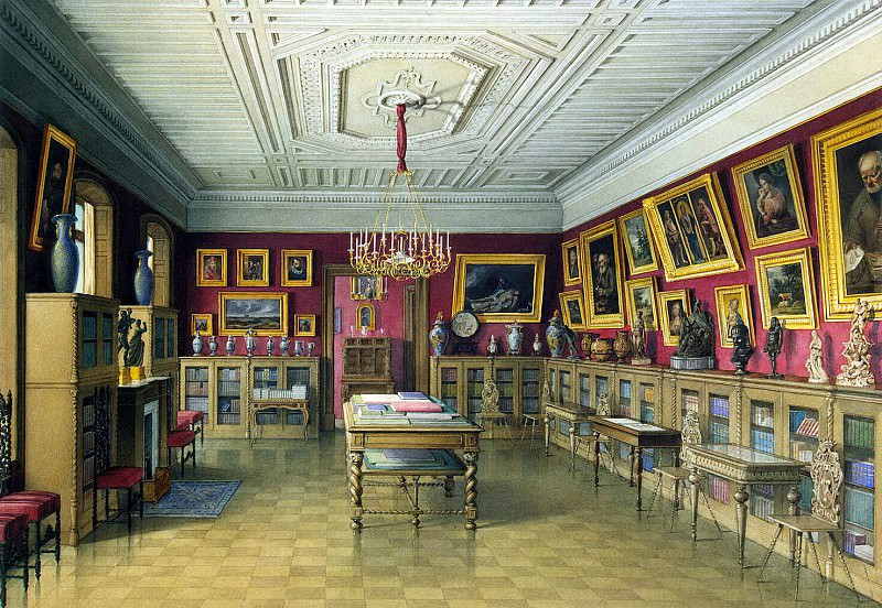 Meyblyum, Jules. Palace of Count PS Stroganov. Library. Hermitage ~ part 08
