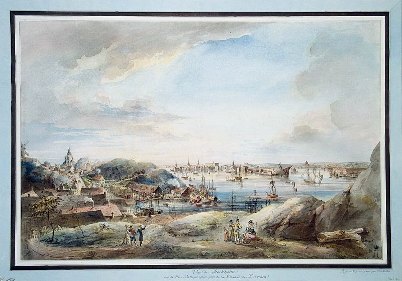 Martin Johann Fredrik. Stockholm. View of the Baltic Sea from the Customs Dunwick. Hermitage ~ part 08