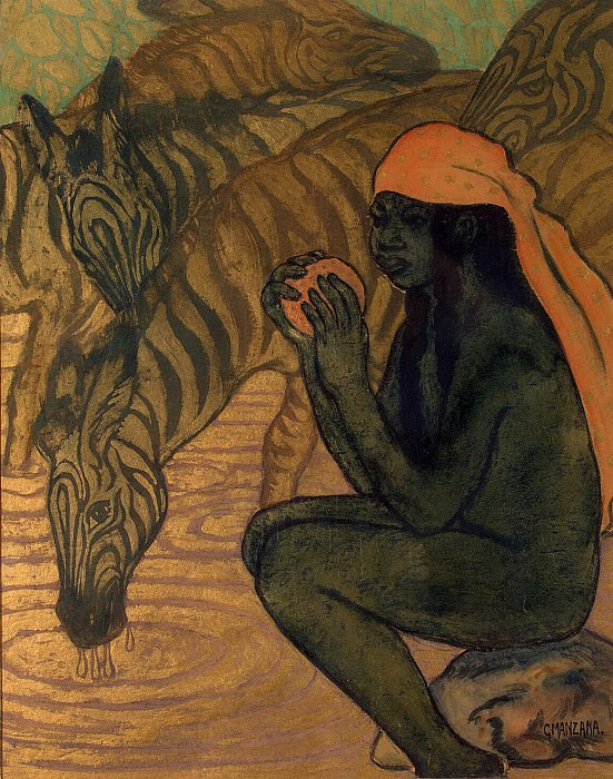Mantsana-Pissarro, Georges. Zebras at Watering. Hermitage ~ part 08