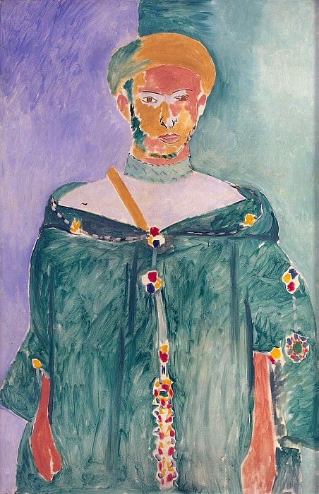 Matisse, Henry. Located in Moroccan green dress. Hermitage ~ part 08