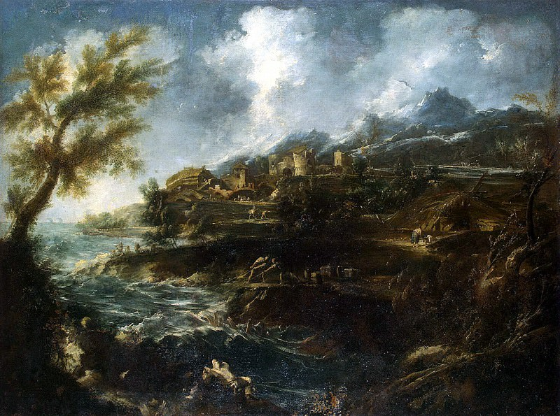 Magnasco, Alessandro Perutstsini, Antonio Francesco. Coast. Hermitage ~ part 08