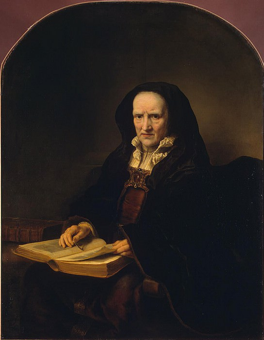 Bol Ferdinand - Portrait of an old woman with a book on his lap. Hermitage ~ part 02