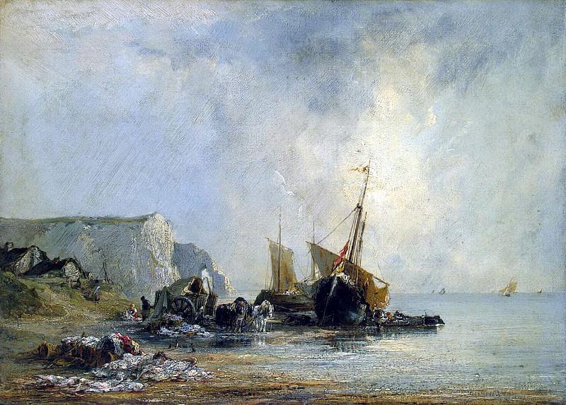 Бонингтон, Ричард Паркс - Лодки у берега Нормандии. Эрмитаж ~ часть 2