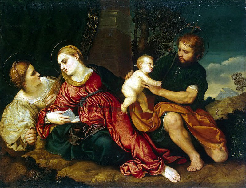 Bordon, Paris - The Holy Family with St.. Catherine. Hermitage ~ part 02
