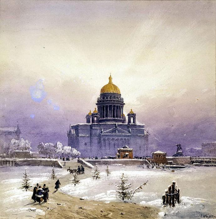 Вайс, Иоганн Баптист - Зимний пейзаж с Исаакиевским собором. Эрмитаж ~ часть 2