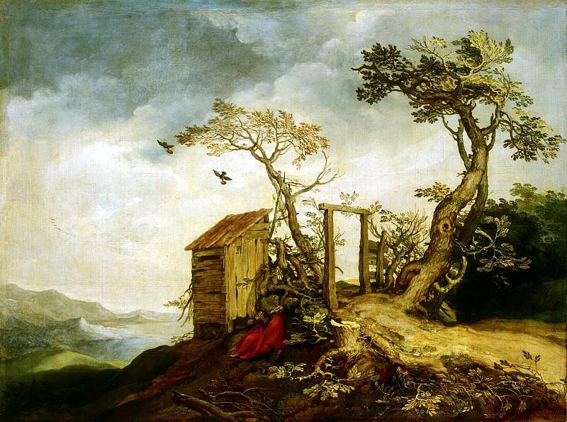 Bloemaert, Abraham - Landscape with the Prophet Elijah. Hermitage ~ part 02