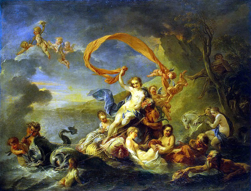 Vanloo, Jean-Baptiste - The Triumph of Galatea. Hermitage ~ part 02