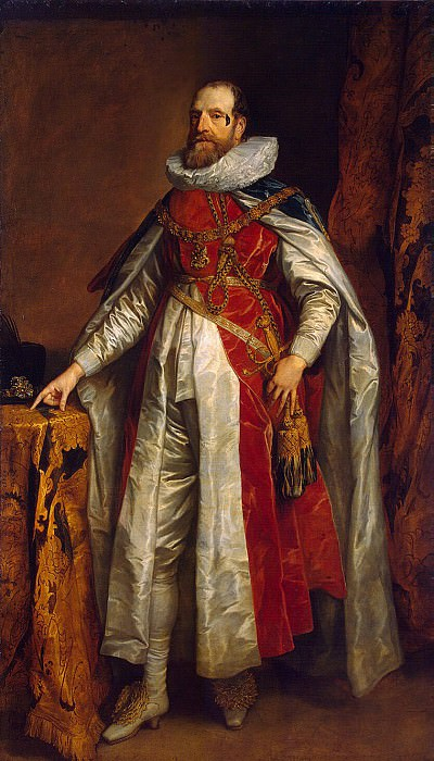 Van Dyck, Anthony - Portrait of Henry Danvers, Earl of Denbigh, in the costume of Knights of the Garter. Hermitage ~ part 02