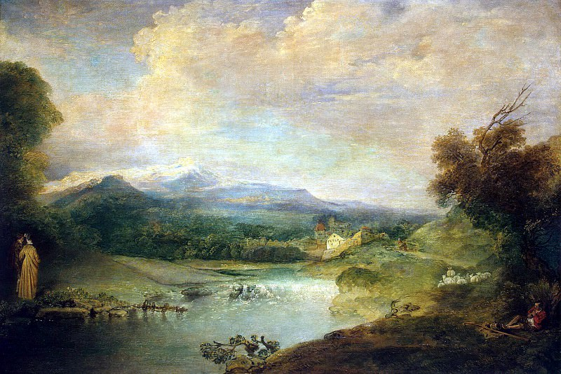 Antoine Watteau - Landscape with waterfall. Hermitage ~ part 02