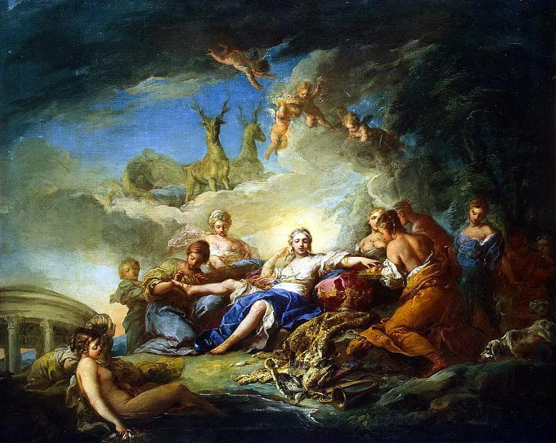 Vanloo, Charles - Diana Recreation. Hermitage ~ part 02