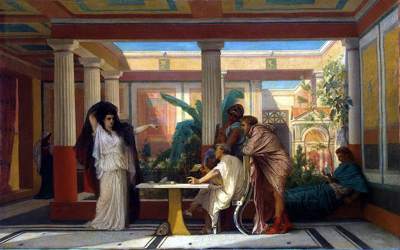 Boulanger, Gustave Clarence Rodolphe - Theatrical rehearsal in the house of the Roman poet. Hermitage ~ part 02