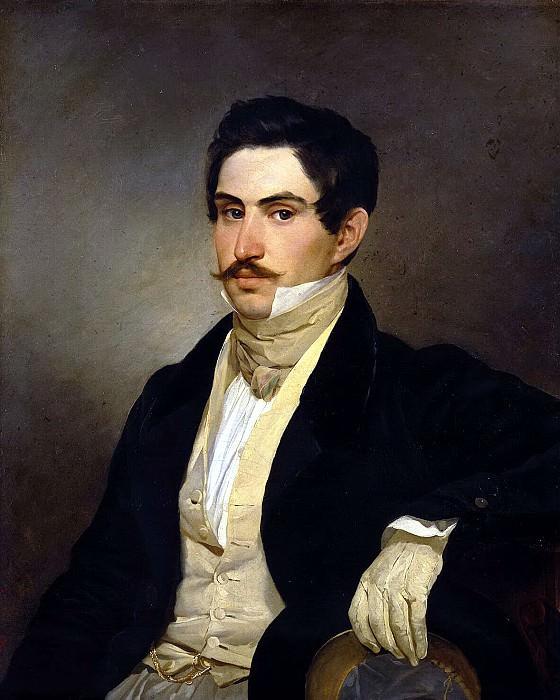 Bryullov, Karl Pavlovich - Portrait of NA Okhotnikov. Hermitage ~ part 02