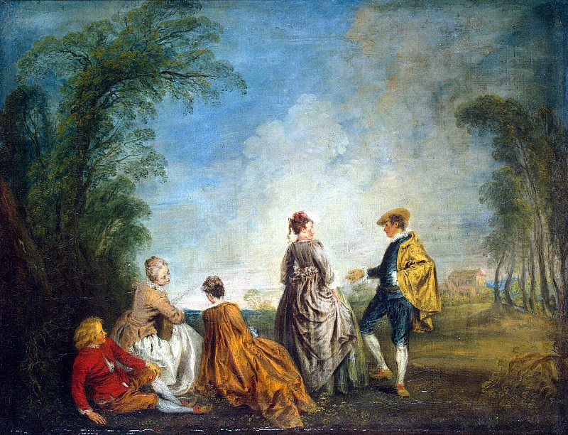 Antoine Watteau - Embarrassing Proposal. Hermitage ~ part 02