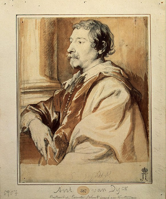 Van Dyck, Anthony - Portrait of the painter Cornelis Shyuta. Hermitage ~ part 02